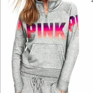 PINK VS Ombré Quarter Zip Sweatshirt